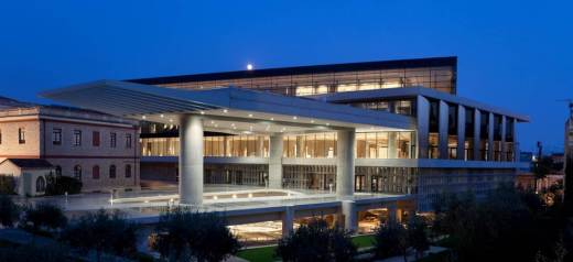 August full moon at Acropolis Museum