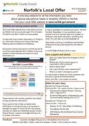 thumbnail of Norfolk Local Offer Newsletter June 2017