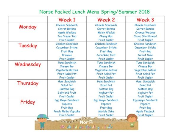 thumbnail of Norse Packed Lunch Menu Spring Summer 2018