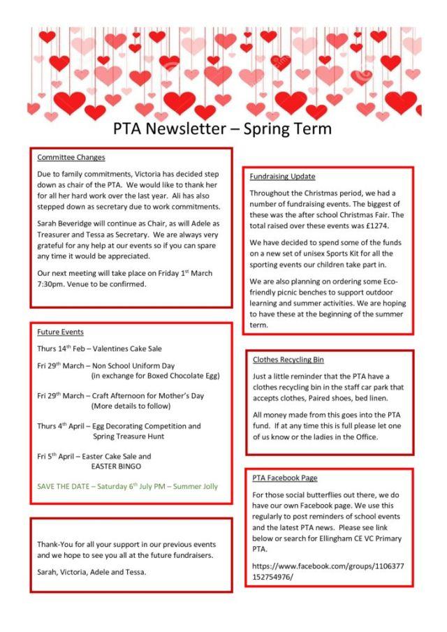 thumbnail of PTA Spring Letter