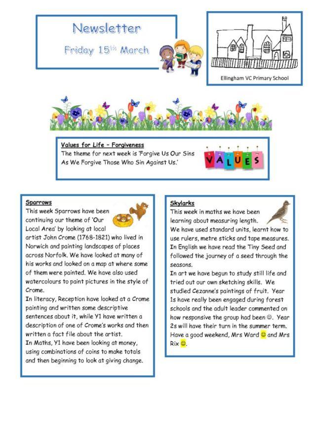 thumbnail of Newsletter 15.03.19