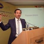 O Eυρωβουλευτής των Γερμανών Φιλελευθέρων και Πρόεδρος του Γερμανο-Ελληνικού Επιχειρηματικού Συνδέσμου (DHW), Δρ. Γιώργος Χατζημαρκάκης