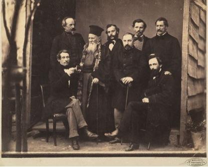 Έλληνες και Γερμανοί καθηγητές στο Πολυτεχνείο Αθηνών, περ. 1850 Φωτογραφία: Εθνική Πινακοθήκη