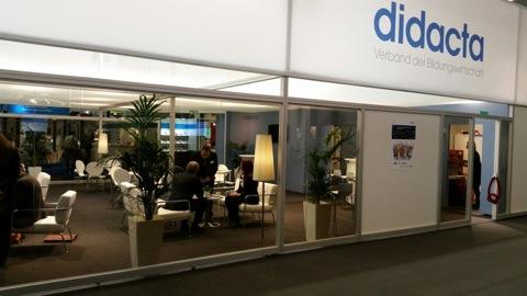 Το κεντρικό περίπτερο της DIDACTA, του συνδέσμου της εκπαιδευτικής βιομηχανίας της Γερμανίας