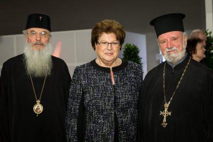 Η πρόεδρος της Βαυαρικής Βουλής κ. Μπάρμπαρα Σταμ, Μητροπολίτης Σεραφείμ, Πρωτοπρεσβύτερος Απόστολος Μαλαμούσης