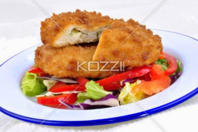 Garlic Chicken Kiev With Mixed Leaf Salad Ready To Eat