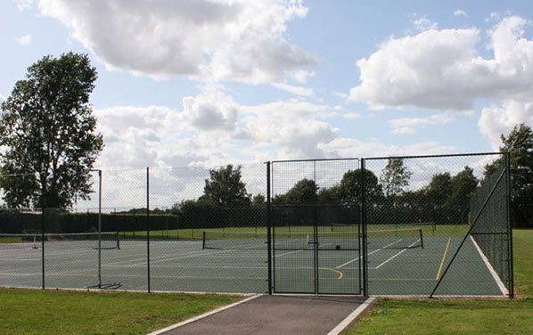 EnTC Courts - MUGA with estate fencing.