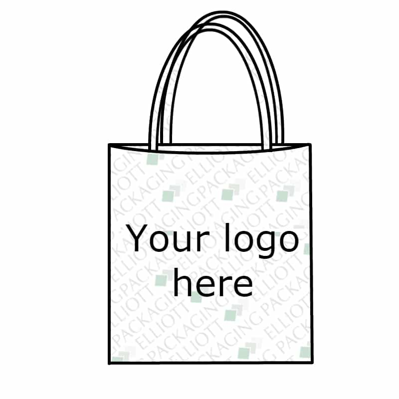 Printed cotton shopping bag. Reusable cotton tote bag. Custom print and sizes available. Natural Cotton. Eco friendly.