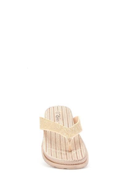 goudkleurige Ellip-sis slippers