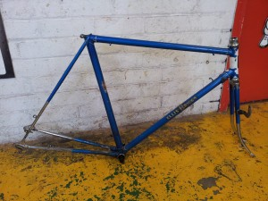 Although this 1950s frame is very nice, it won't suit a conversion to modern components...