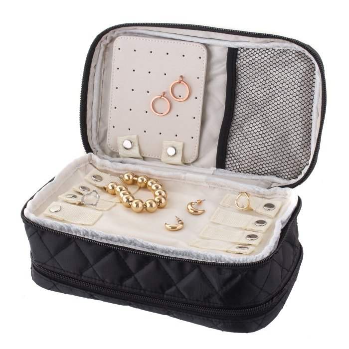 Black Jewelry & Makeup Bag