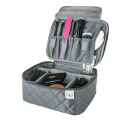 Grey Mini Makeup Train Case