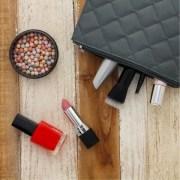 Grey Wristlet Glam Bag