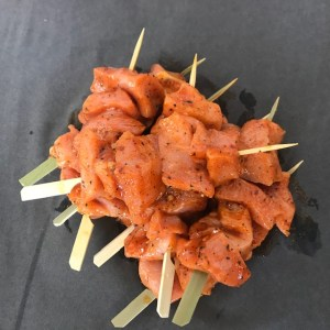 Pork Kebab Ginger Chilli and Lime