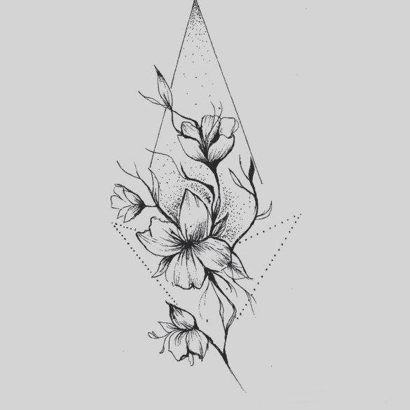 Флора растения Тату эскизы Галерея идей для