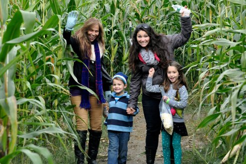 Having fun in the Corn Maze