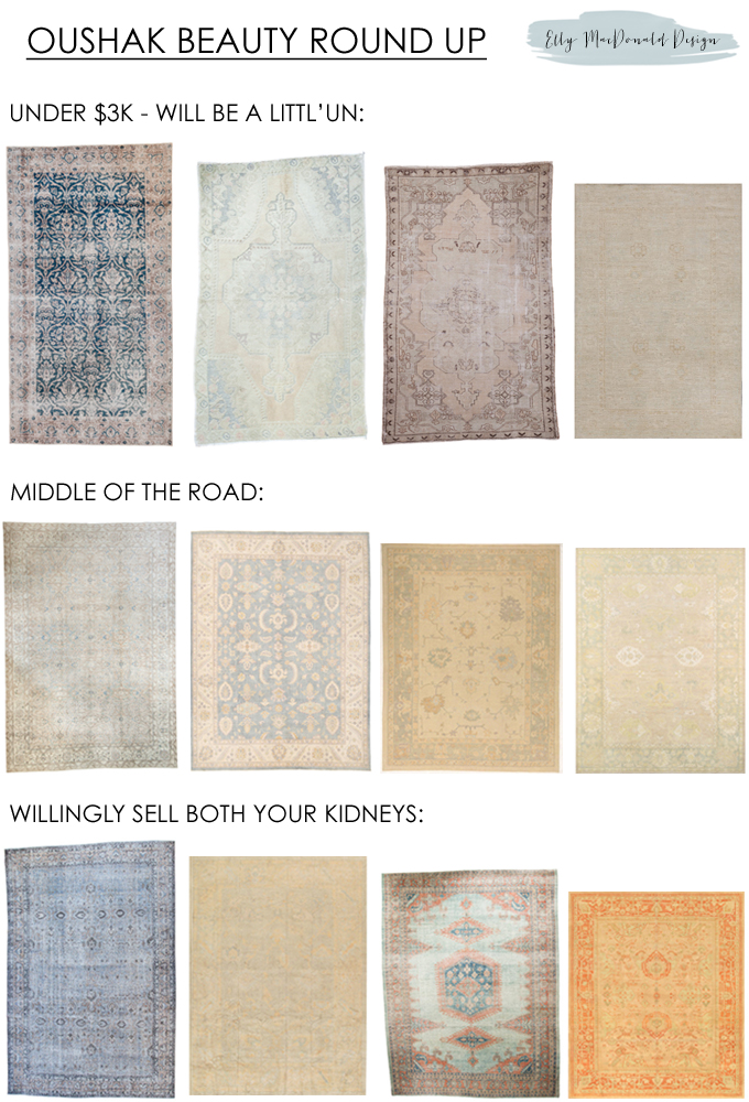 oushak rug round up elly macdonald design