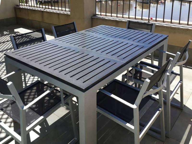 muebles de aluminio para jardin patio
