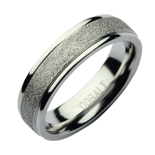 6mm Cobalt Sparkle Wedding Ring Band Cobalt Rings At