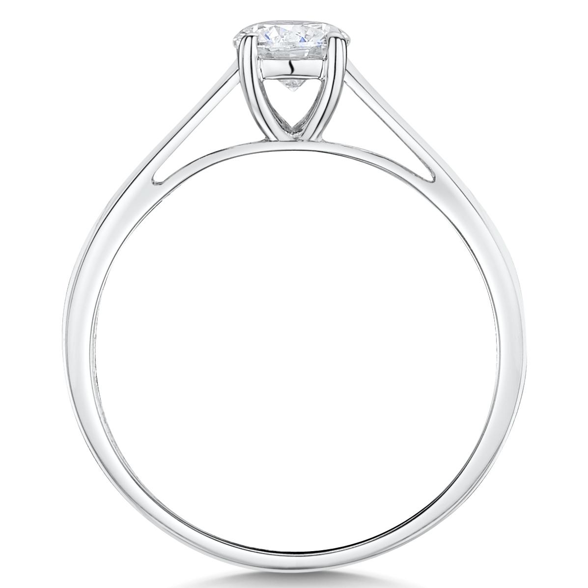 9ct White Gold Quarter Carat Diamond Solitaire Engagement