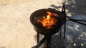 hierro calentado con la fragua