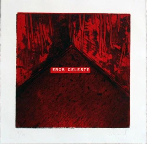 Estivill, Eros Celeste, grabado aguafuerte, edición 50 ejemplares, numerado y firmado a lápiz, plancha 30×30 cms. y papel 38×38 cms. 160
