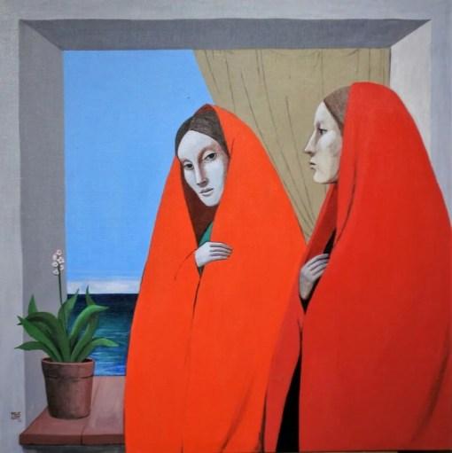 De las Casas Manuel, Mantos rojos, pintura oleo lienzo, 80×80 cms. (7)