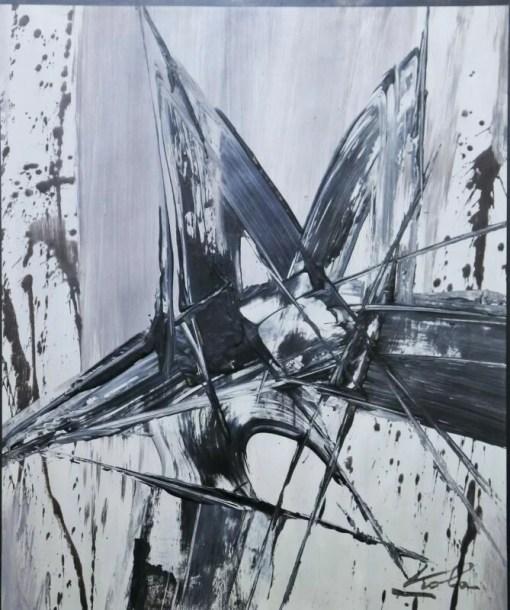 Viola Manuel, Movimiento inmovilizado, pintura técnica mixta cartulina, enmarcado, pintura 38×31,50 cms. y marco 62×56 cms. (8)