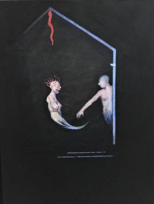Ortés Luis, Perseo, pintura técnica mixta sobre papel pegado a madera, enmarcado, pintura 65×50 cms. y marco 69×54 cms (2)