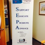 3ft x 8ft banner stand for Southeastern Pennsylvania Association of Critical Care Nurses in Abington, PA
