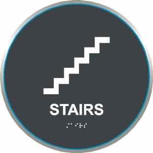 ADA Stairs Sign in California