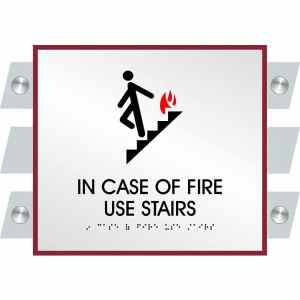 ADA Fire Sign in Garrison Collection