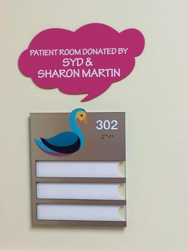 hospital ADA room sign