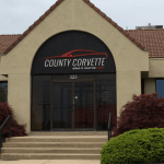 Dimensional signage for County Corvette, which recently moved.