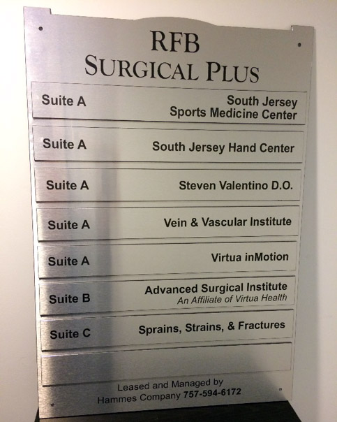 New Jersey Office ADA Signs