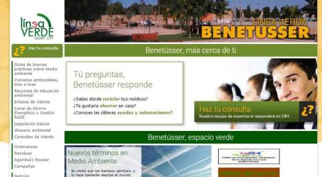 Más de 10.000 vecinos visitan la web Línea Verde Benetússer