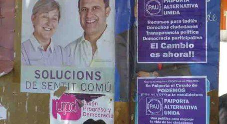 A la gresca con los carteles electorales en Paiporta