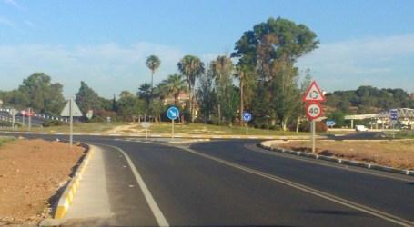 Demarcació de carreteres millora les rotondes d'accés a El Puig