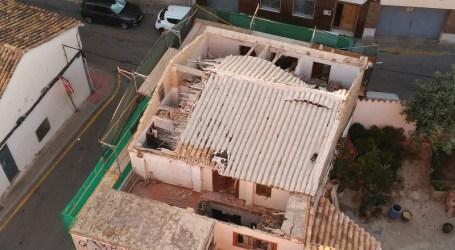 Cae el techo en una vivienda catalogada en Paterna