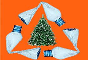 Albalat: Recollida de botelles de plàstic d'aigua per a decoració nadalenca
