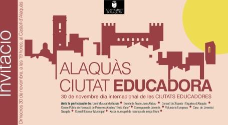 Alaquàs celebra el Dia Internacional de la Ciutat Educadora