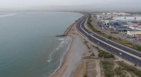 Las playas que se tragó la autovía V-21