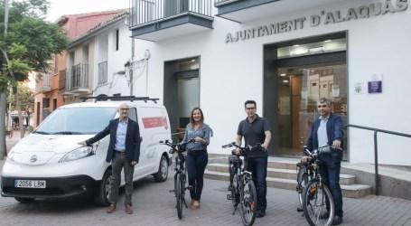 Alaquàs ha incorporat una nova furgoneta i tres bicicletes elèctriques