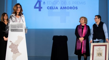 Pilar Gil Cabedo, recibe el premio de la Diputación por su labor en la protección de las víctimas del machismo