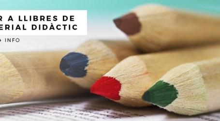 L'Ajuntament de Picassent convoca ajudes per a llibres de text i material didàctic destinades al segon cicle d'educació infantil