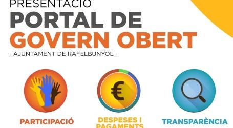 Rafelbunyol estrena una plataforma web avançant en la promoció d'un Govern Obert