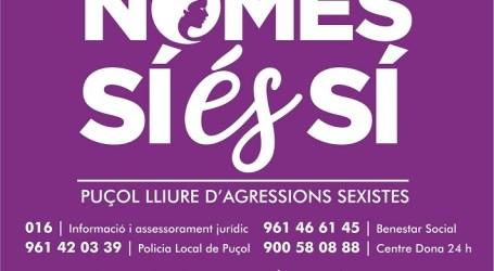 Once colectivos de Puçol se suman al acto oficial del 25 de noviembre contra la violencia machista