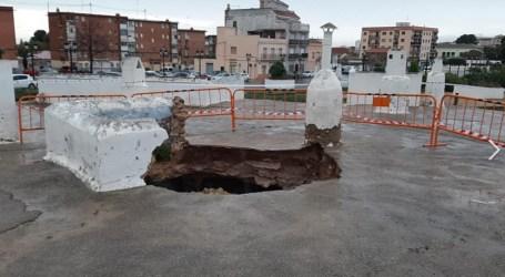 Se derruba el techo de una de las cuevas de Paterna tras las lluvias
