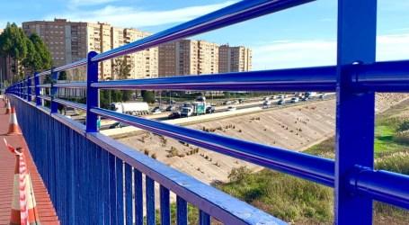 Comienzan las obras para elevar la barandilla del puente de la A3 que une Xirivella con València