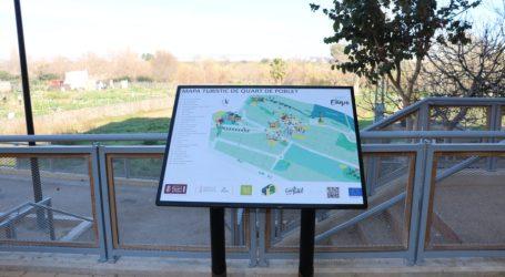 Quart de Poblet instala paneles informativos accesibles en la Ruta del Agua